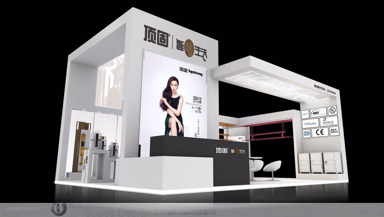展馆走科技炫酷风,以黑,白,灰三色为主,一横一竖之间,构建出一个个